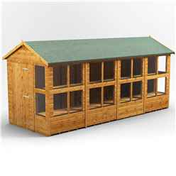 16 X 6 Premium Tongue And Groove Apex Potting Shed - Single Door - 20 Windows - 12mm Tongue And Groove Floor And Roof