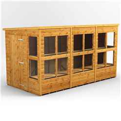 12 X 6 Premium Tongue And Groove Pent Potting Shed - Single Door - 16 Windows - 12mm Tongue And Groove Floor And Roof