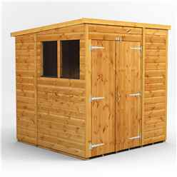 6 X 6 Premium Tongue And Groove Pent Shed - Double Doors - 2 Windows - 12mm Tongue And Groove Floor And Roof