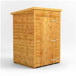 4 X 4  Premium Tongue And Groove Pent Shed - Single Door - Windowless - 12mm Tongue And Groove Floor And Roof