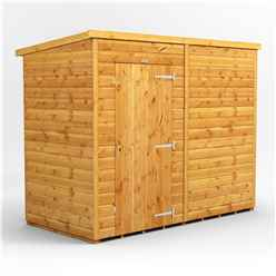 8 X 4 Premium Tongue And Groove Pent Shed - Single Door - Windowless - 12mm Tongue And Groove Floor And Roof
