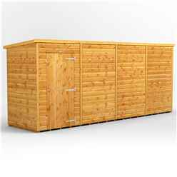 16 X 4 Premium Tongue And Groove Pent Shed - Single Door - Windowless - 12mm Tongue And Groove Floor And Roof