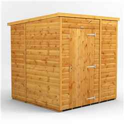 6 x 6 Premium Tongue and Groove Pent Shed - Single Door - Windowless - 12mm Tongue and Groove Floor and Roof