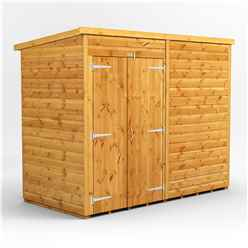 8 X 4 Premium Tongue And Groove Pent Shed - Double Doors - Windowless - 12mm Tongue And Groove Floor And Roof