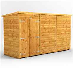 12 X 4 Premium Tongue And Groove Pent Shed - Double Doors - Windowless - 12mm Tongue And Groove Floor And Roof