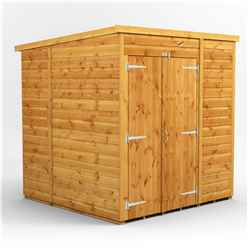 6 x 6 Premium Tongue and Groove Pent Shed - Double Doors - Windowless - 12mm Tongue and Groove Floor and Roof