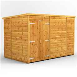 10 X 6 Premium Tongue And Groove Pent Shed - Double Doors - Windowless - 12mm Tongue And Groove Floor And Roof