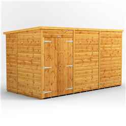 12 X 6 Premium Tongue And Groove Pent Shed - Double Doors - Windowless - 12mm Tongue And Groove Floor And Roof