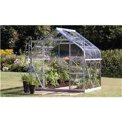 8 x 6 Premier Double Doors Aluminium Greenhouse - Curved Eaves
