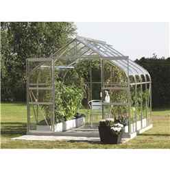 8 x 8 Premier Double Doors Aluminium Greenhouse - Curved Eaves
