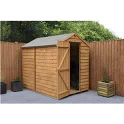 Installed 7 X 5 (2.1m X 1.5m) Overlap Apex Shed With Single Door Windowless - Modular