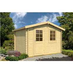 3.2m X 2.5m Log Cabin - Single Glazing (28mm Wal Thickness) Single Door - Single Window - *flash Reduction - Fast Delivery