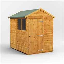 7 x 5 Premium Tongue And Groove Apex Shed - Single Door - 2 Windows - 12mm Tongue And Groove Floor And Roof