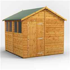 8 x 8  Premium Tongue and Groove Apex Shed - Single Door - 4 Windows - 12mm Tongue and Groove Floor and Roof