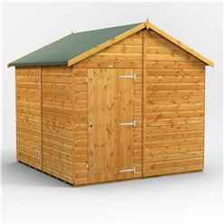 8 x 8  Premium Tongue and Groove Apex Shed - Single Door - Windowless - 12mm Tongue and Groove Floor and Roof