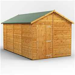 14 x 8  Premium Tongue and Groove Apex Shed - Single Door - Windowless - 12mm Tongue and Groove Floor and Roof