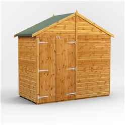 4ft x 8ft  Premium Tongue and Groove Apex Shed - Double Doors - Windowless - 12mm Tongue and Groove Floor and Roof