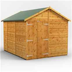 10ft x 8ft  Premium Tongue and Groove Apex Shed - Double Doors - Windowless - 12mm Tongue and Groove Floor and Roof