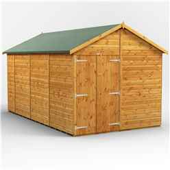 14ft x 8ft  Premium Tongue and Groove Apex Shed - Double Doors - Windowless - 12mm Tongue and Groove Floor and Roof