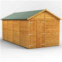 16ft x 8ft  Premium Tongue and Groove Apex Shed - Double Doors - Windowless - 12mm Tongue and Groove Floor and Roof