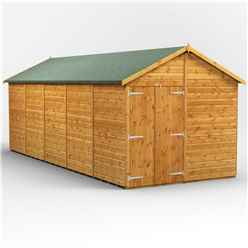 20ft x 8ft  Premium Tongue and Groove Apex Shed - Double Doors - Windowless - 12mm Tongue and Groove Floor and Roof