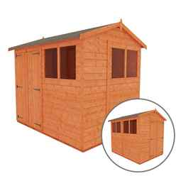 8 X 6 Tongue And Groove Shed With Double Doors (12mm Tongue And Groove Floor And Apex Roof)