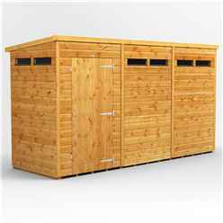12 X 4 Security Tongue And Groove Pent Shed - Single Door - 6 Windows - 12mm Tongue And Groove Floor And Roof