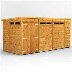 14 X 6 Security Tongue And Groove Pent Shed - Double Doors - 6 Windows - 12mm Tongue And Groove Floor And Roof