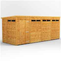 18 X 6 Security Tongue And Groove Pent Shed - Single Door - 8 Windows - 12mm Tongue And Groove Floor And Roof
