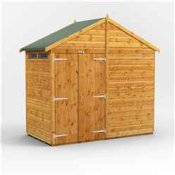 4 x 8 Security Tongue and Groove Apex Shed - Double Doors - 4 Windows - 12mm Tongue and Groove Floor and Roof
