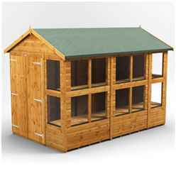 14 X 6 Premium Tongue And Groove Apex Potting Shed - Double Doors - 18 Windows - 12mm Tongue And Groove Floor And Roof