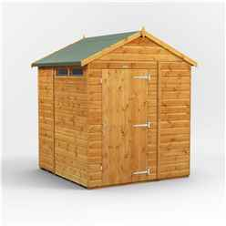 6 x 6 Security Tongue and Groove Apex Shed - Single Door - 2 Windows - 12mm Tongue and Groove Floor and Roof