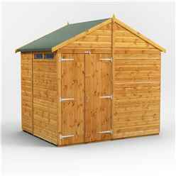 6 x 8 Security Tongue and Groove Apex Shed - Double Doors - 2 Windows - 12mm Tongue and Groove Floor and Roof