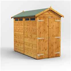 8 x 4 Security Tongue and Groove Apex Shed - Double Doors - 4 Windows - 12mm Tongue and Groove Floor and Roof