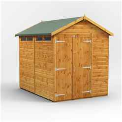 8 x 6 Security Tongue and Groove Apex Shed - Double Doors - 4 Windows - 12mm Tongue and Groove Floor and Roof