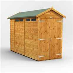 10 x 4 Security Tongue and Groove Apex Shed - Double Doors - 4 Windows - 12mm Tongue and Groove Floor and Roof