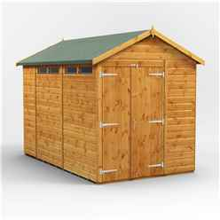 10 x 6 Security Tongue and Groove Apex Shed - Double Doors - 4 Windows - 12mm Tongue and Groove Floor and Roof