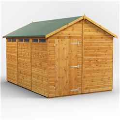 12 x 8 Security Tongue and Groove Apex Shed - Single Door - 6 Windows - 12mm Tongue and Groove Floor and Roof