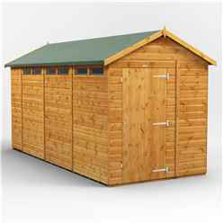 14 x 6 Security Tongue and Groove Apex Shed - Double Doors - 6 Windows - 12mm Tongue and Groove Floor and Roof