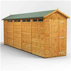 18 x 4 Security Tongue and Groove Apex Shed - Single Door - 8 Windows - 12mm Tongue and Groove Floor and Roof