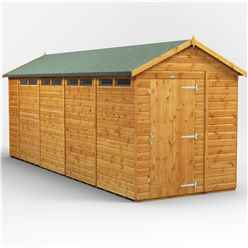 18 x 6 Security Tongue and Groove Apex Shed - Single Door - 8 Windows - 12mm Tongue and Groove Floor and Roof