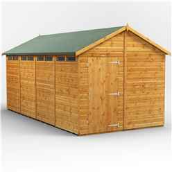 18 x 8 Security Tongue and Groove Apex Shed - Single Door - 8 Windows - 12mm Tongue and Groove Floor and Roof