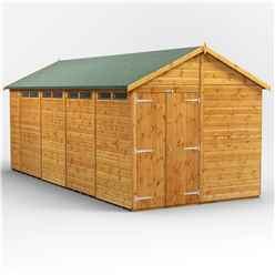 18 x 8 Security Tongue and Groove Apex Shed - Double Doors - 8 Windows - 12mm Tongue and Groove Floor and Roof