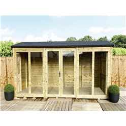 8 X 7 Reverse Pressure Treated Tongue And Groove Apex Summerhouse + LONG WINDOWS With Higher Eaves And Ridge Height + Toughened Safety Glass + Euro Lock With Key + SUPER STRENGTH FRAMING