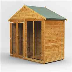 4 x 8 Premium Tongue and Groove Apex Summerhouse - Double Doors - 12mm Tongue and Groove Floor and Roof