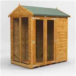6 X 4 Premium Tongue And Groove Apex Summerhouse - Double Doors - 12mm Tongue And Groove Floor And Roof