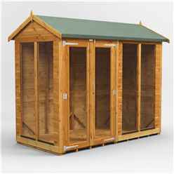 8 X 4 Premium Tongue And Groove Apex Summerhouse - Double Door - 12mm Tongue And Groove Floor And Roof