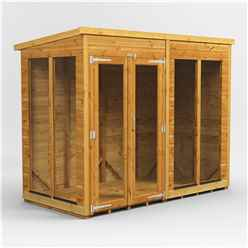 8 X 4 Premium Tongue And Groove Pent Summerhouse - Double Door - 12mm Tongue And Groove Floor And Roof