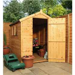 7 x 5 Tongue and Groove Apex Shed With Single Door + 2 Windows (10mm Solid OSB Floor)