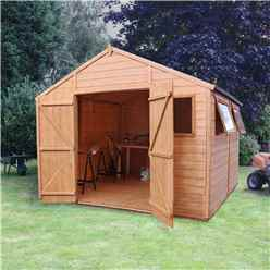 10 x 10 Deluxe Tongue and Groove Workshop With Double Doors + 4 Windows (12mm Tongue and Groove Floor and Roof)